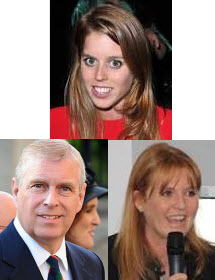 Princess Beartice, Sarah Ferguson and Prince Andrew